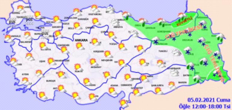 Meteorolojiden 15 kente turuncu uyarı Dikkat: Yoğun kar ve çok kuvvetli yağmur...